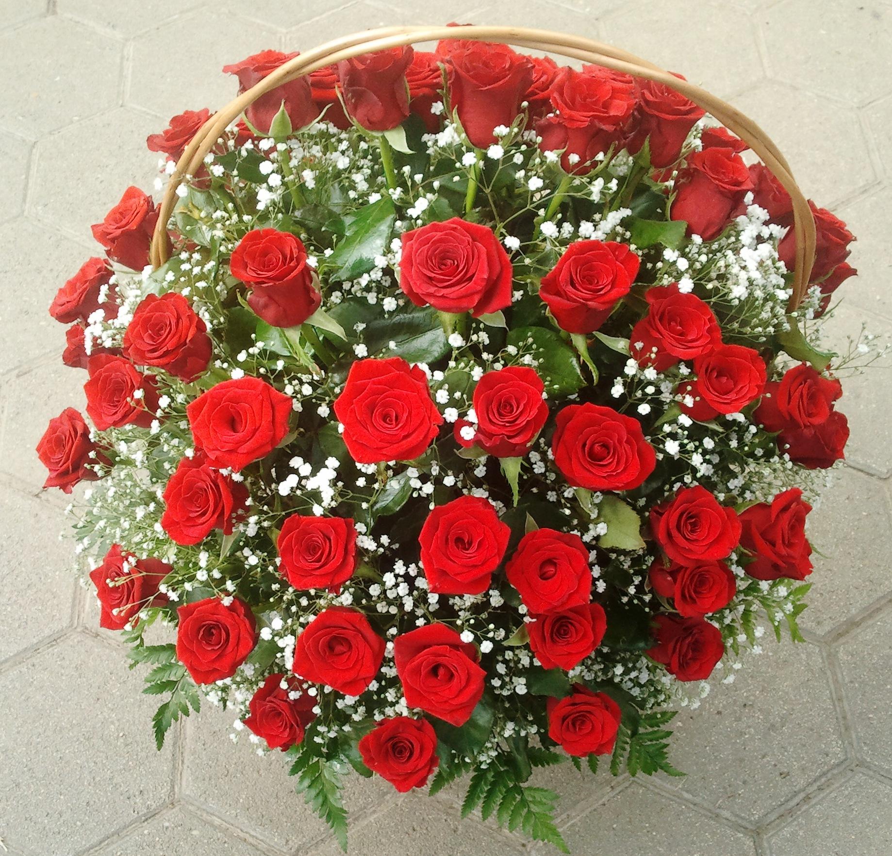 Rózsa kosár